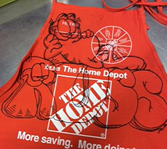 Painted home depot aprons pictures.