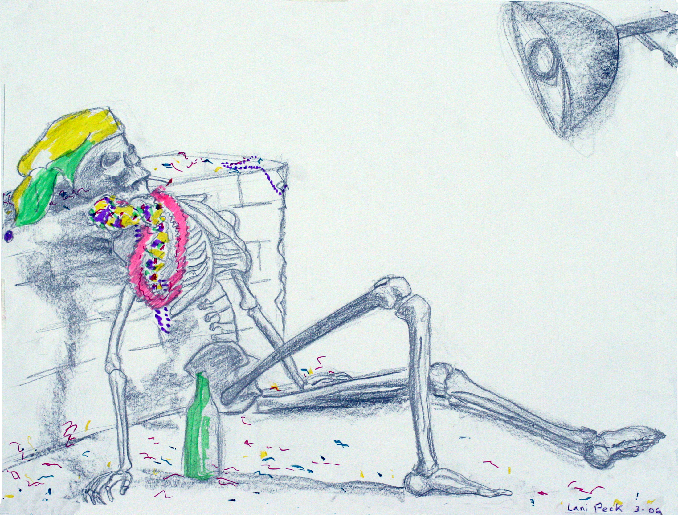 Marti gras skeleton