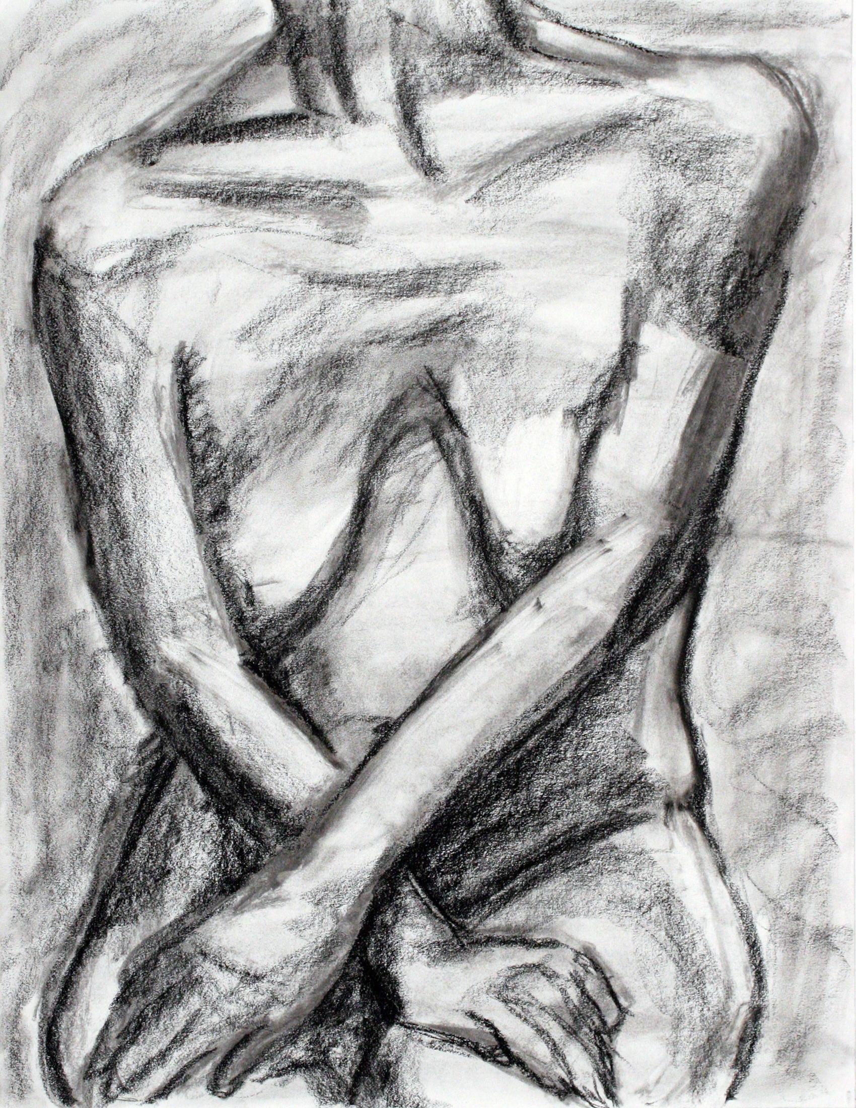 female nude torso front