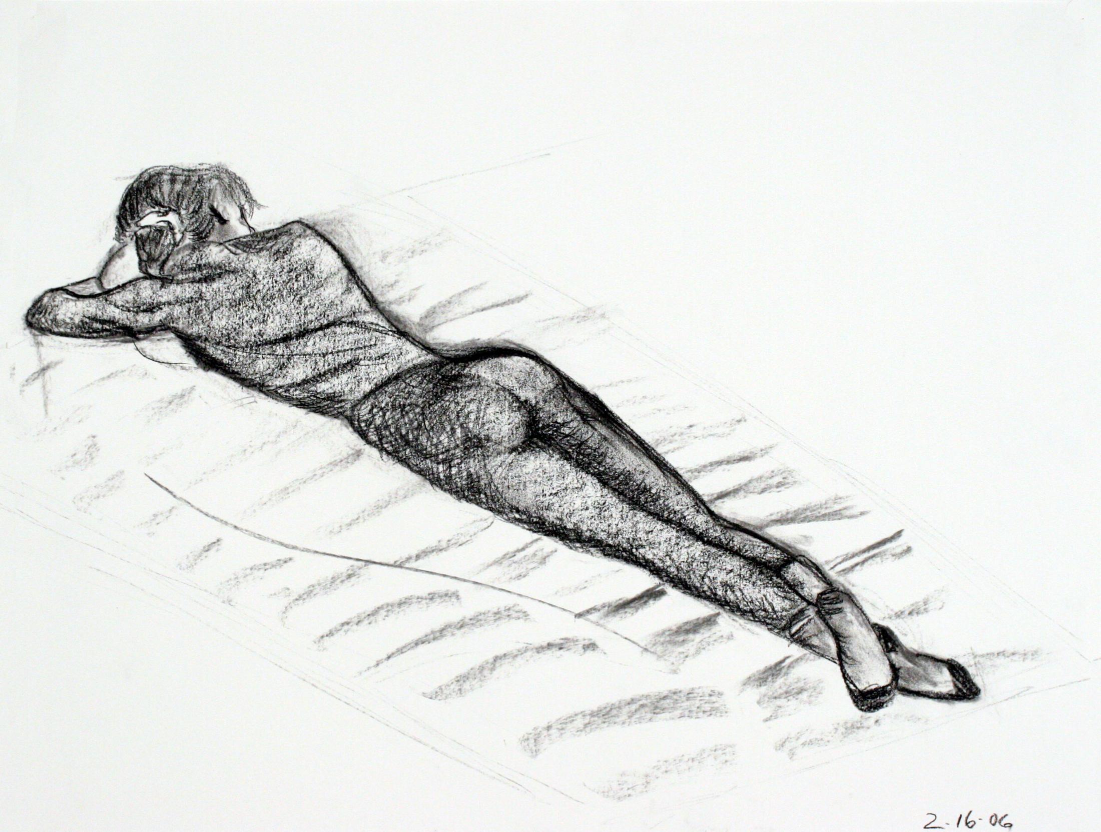 lying on blanket