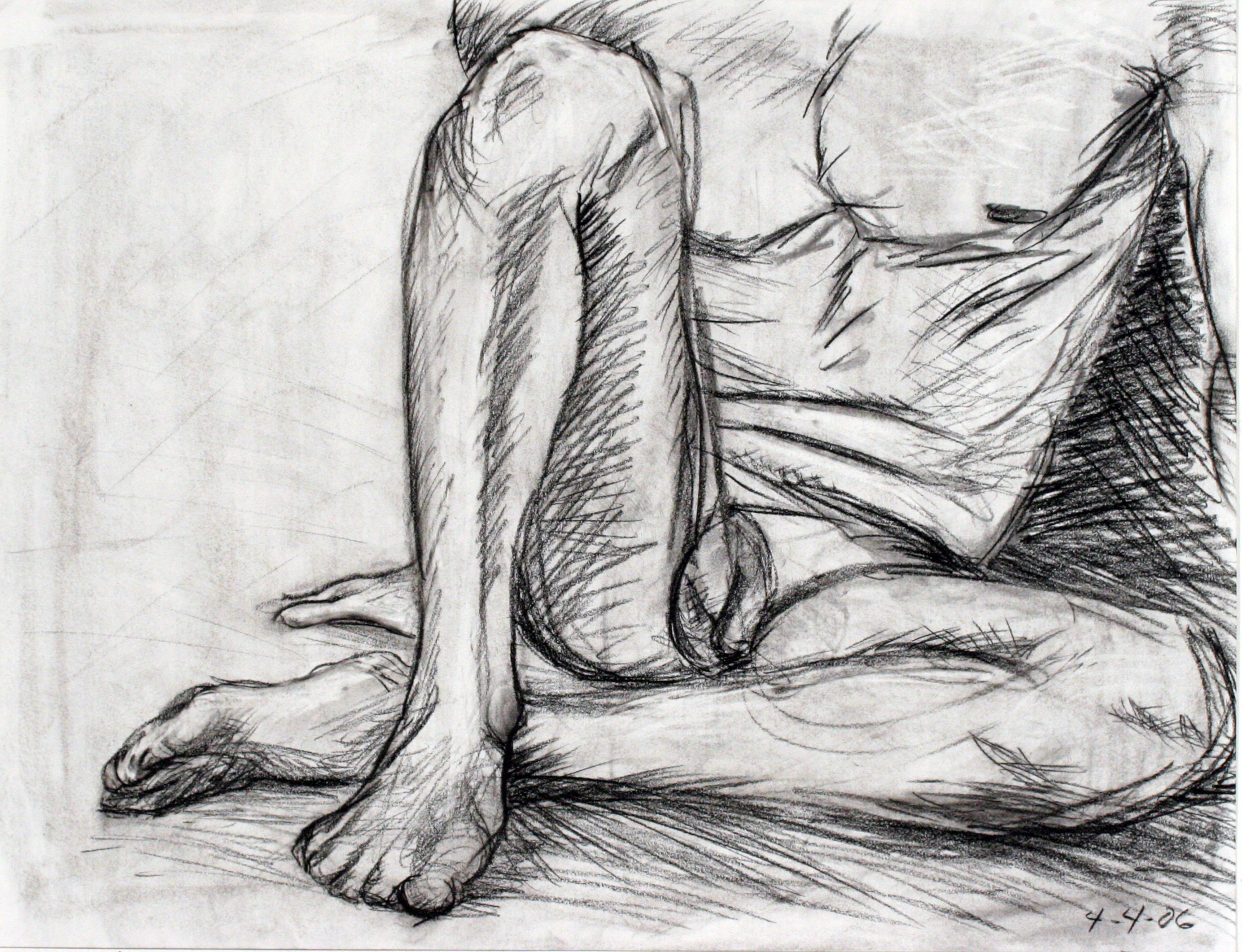 male nude foot study