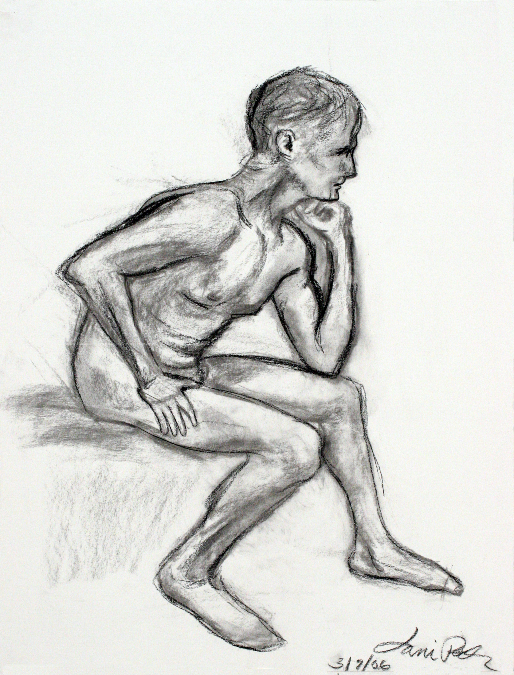 thinking man figure